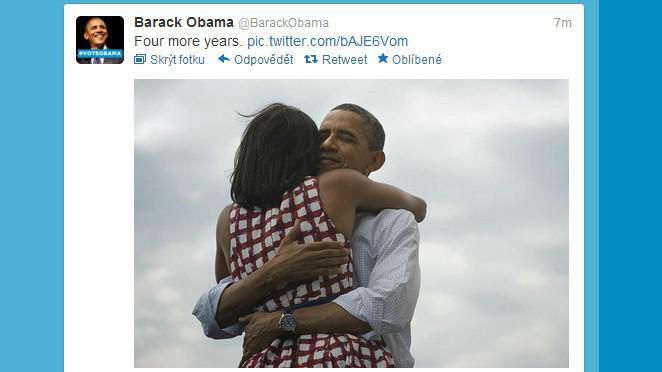 Barack Obama oznamuje vítězství