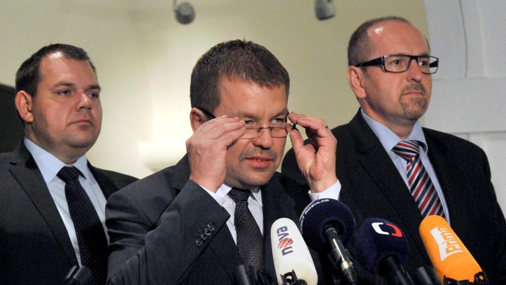 Jan Florián, Petr Tluchoř a Ivan Fuksa
