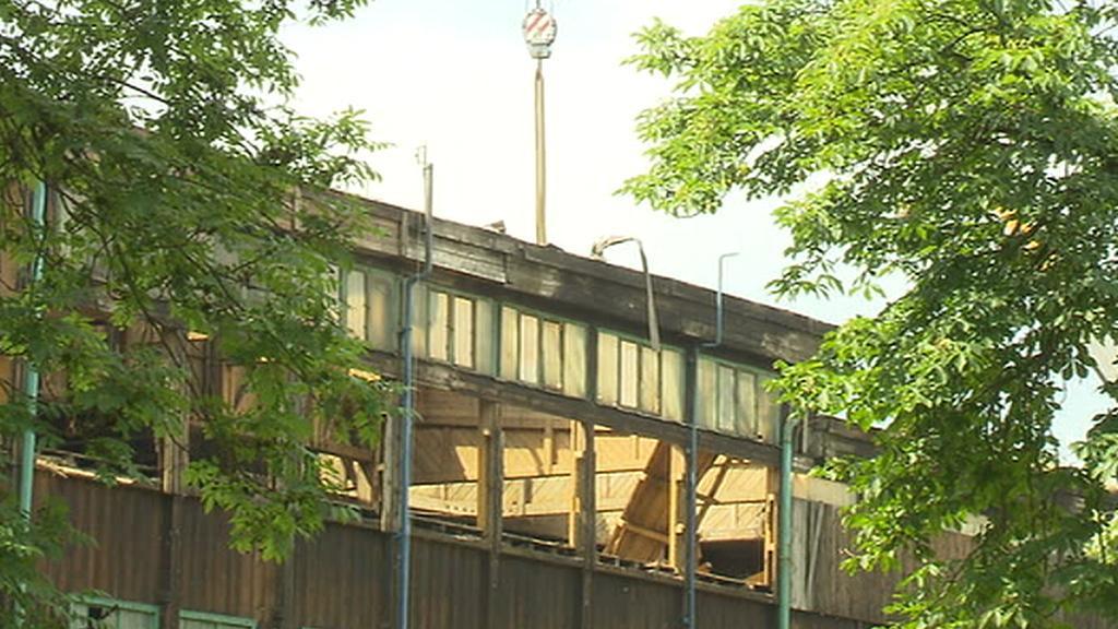 Demolice stadionu na Štvanici