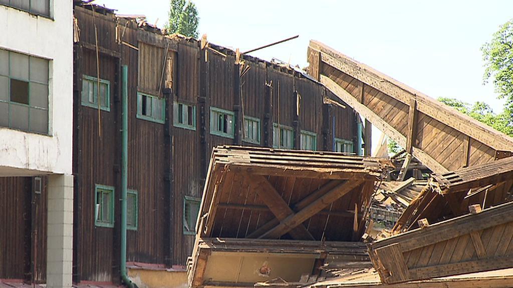 Demolice štvanického stadionu