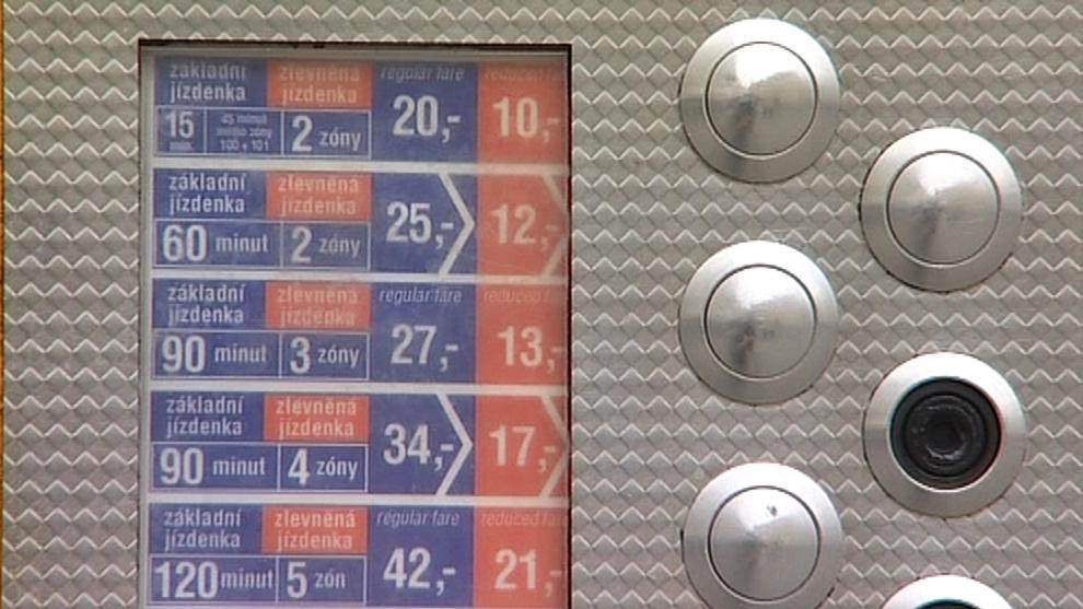 Automat na jízdenky MHD v Brně
