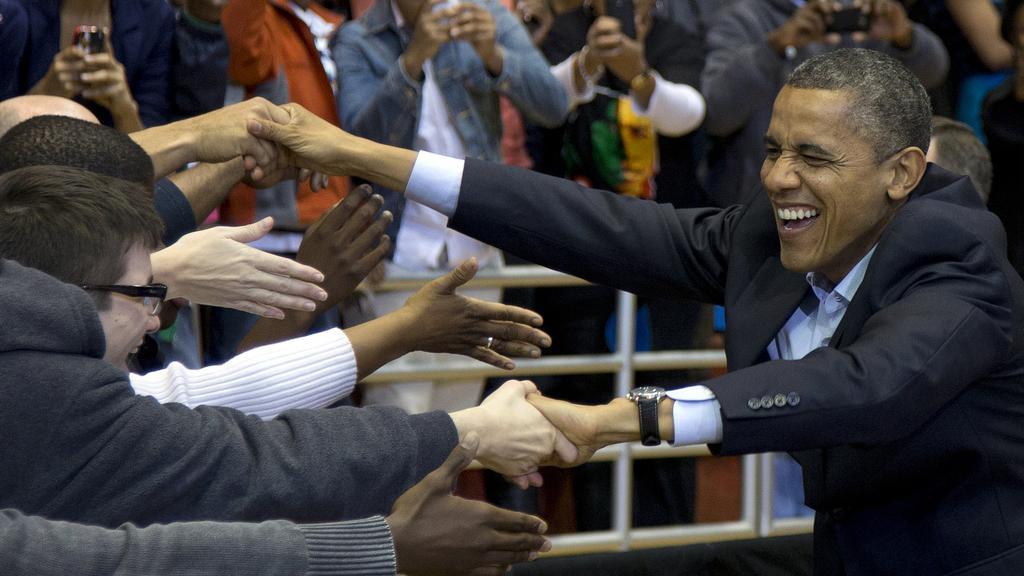 Obama zdraví své příznivce