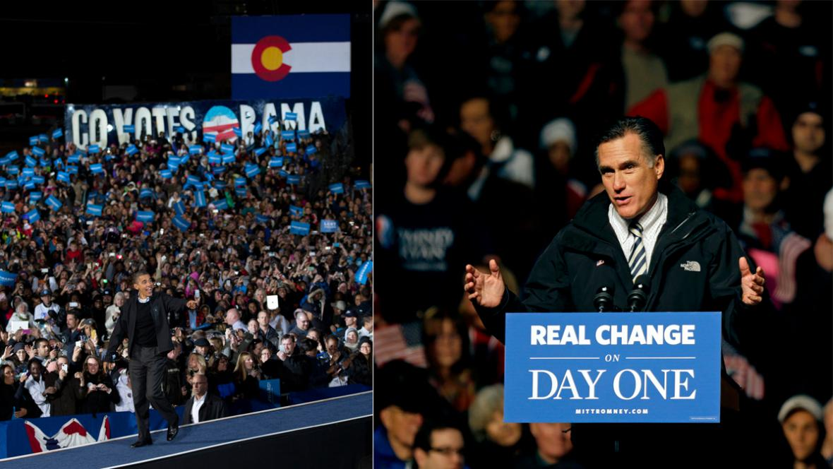 Obama v Coloradu, Romney ve Virginii
