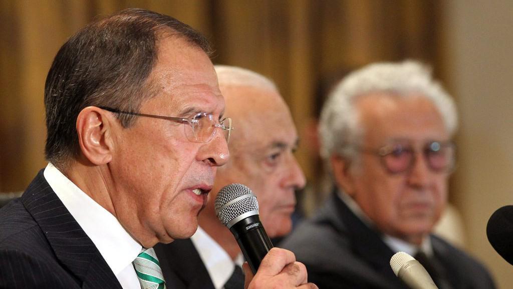 Sergej Lavrov, Nabíl Arabí a Lachdar Brahímí