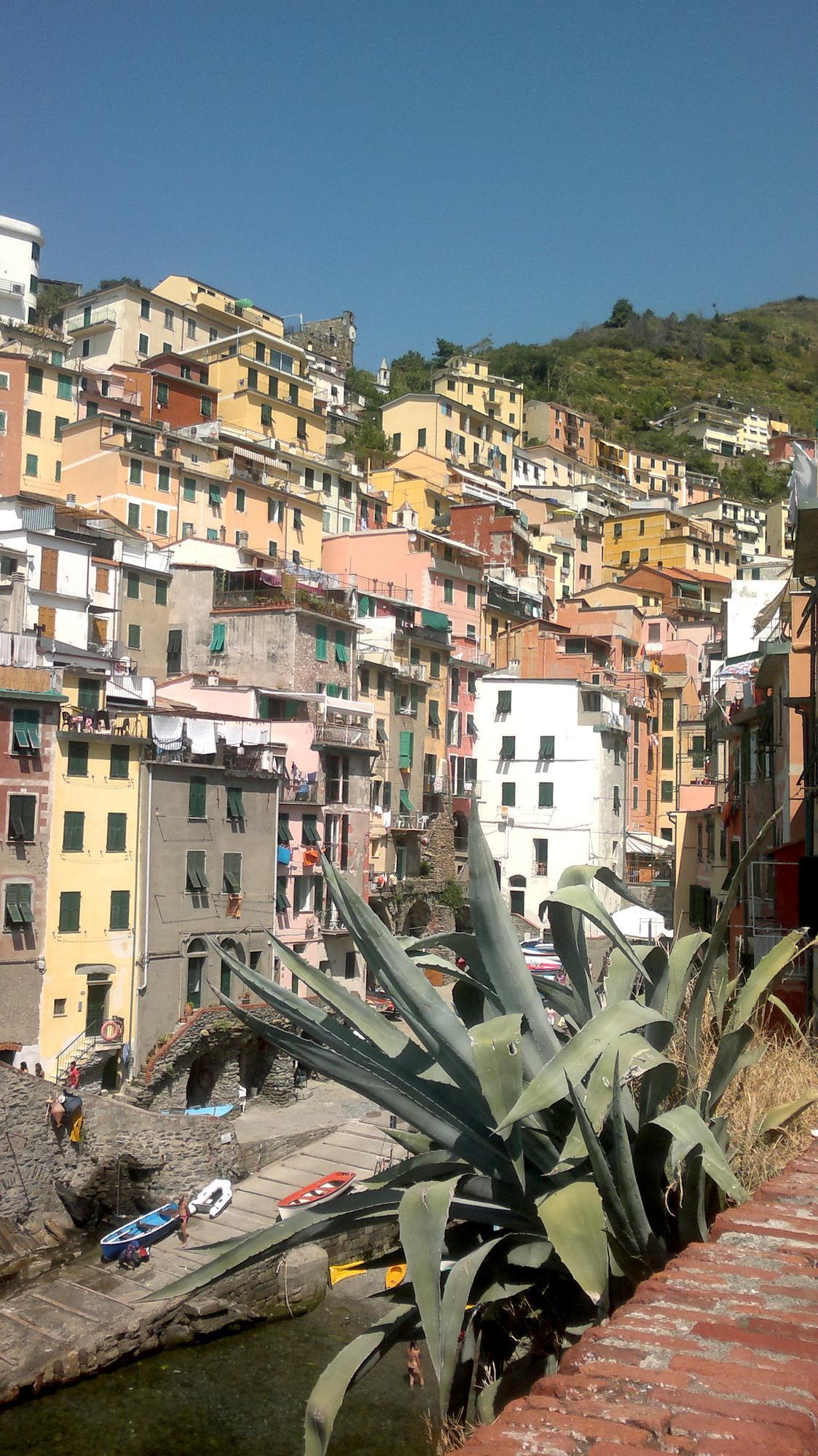 Rybářská vesnička Riomaggiore