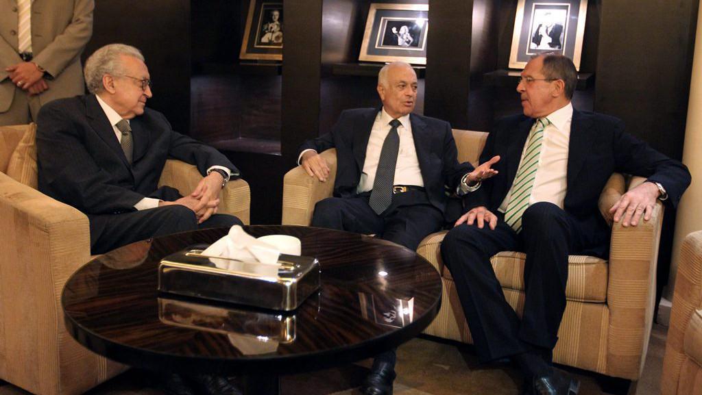 Schůzka Lachdara Brahímího, Nabíla Arabího a Sergeje Lavrova