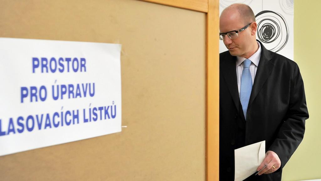 Bohuslav Sobotka u voleb