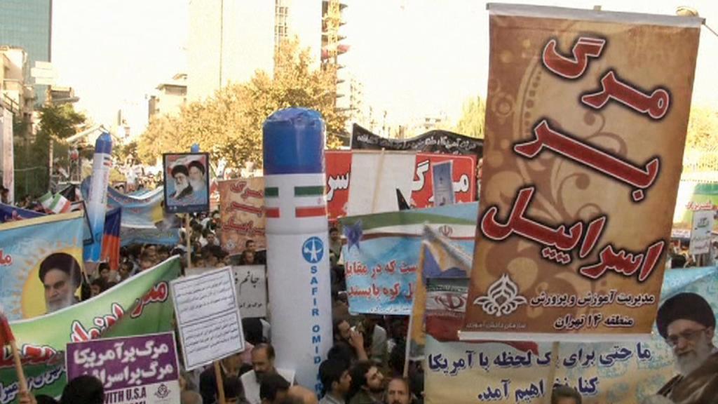 Íránská protiamerická demonstrace