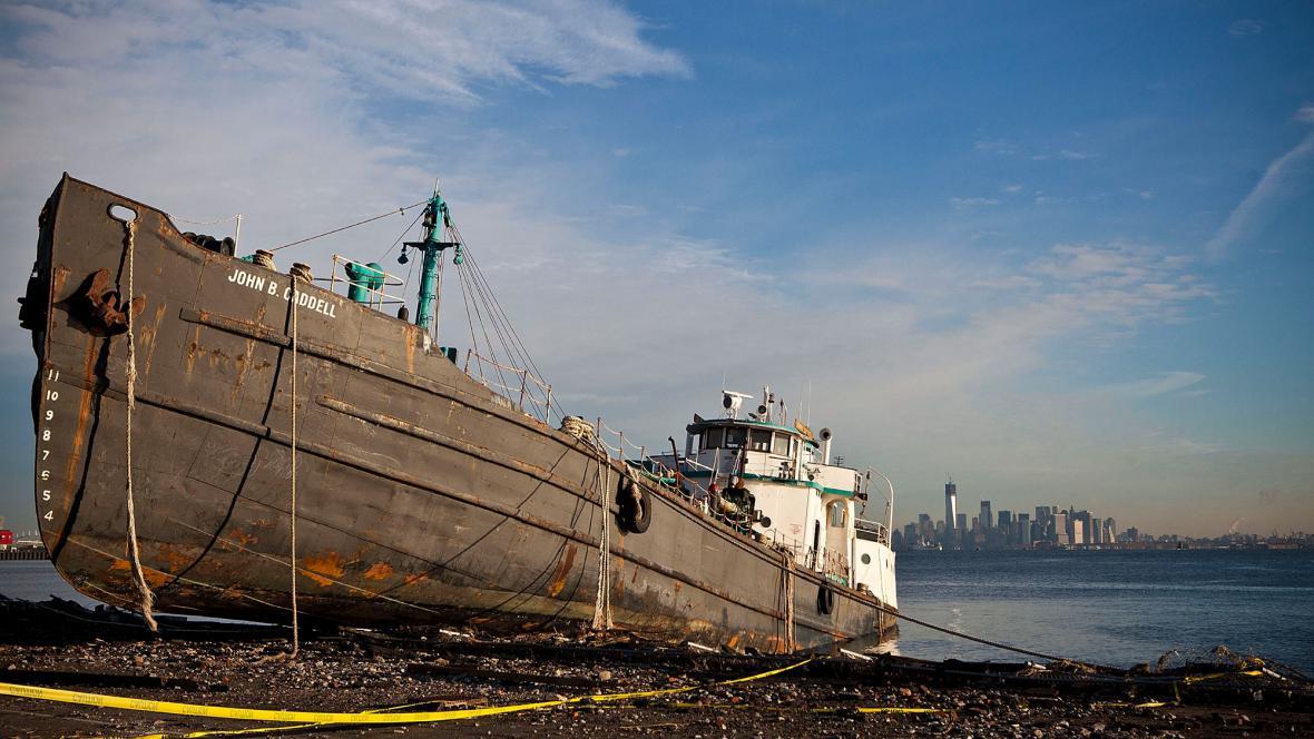 Následky hurikánu na Staten Islandu