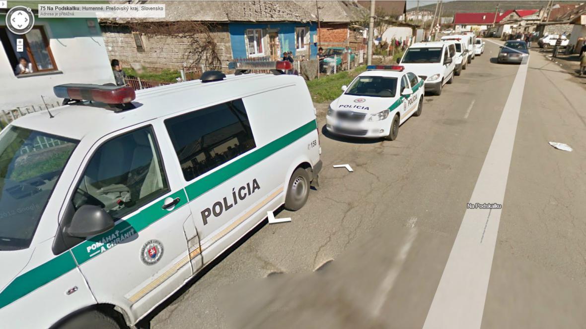 Razie slovenské policie v Humenném na východě Slovenska