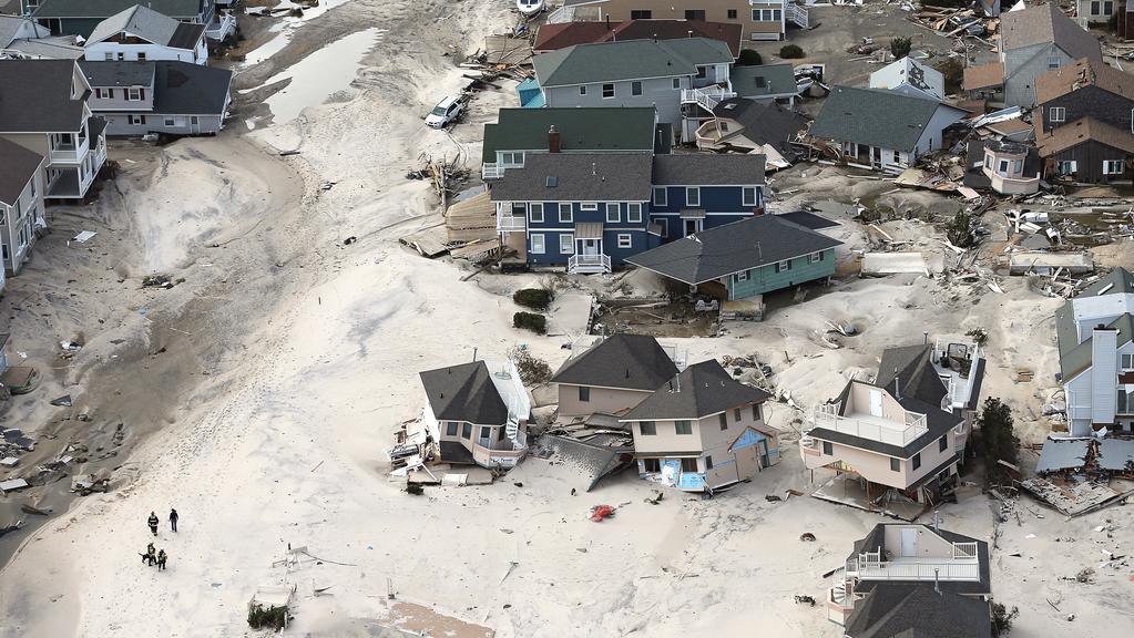 Pobřežní domy poblíž Seaside Heights v New Jersey