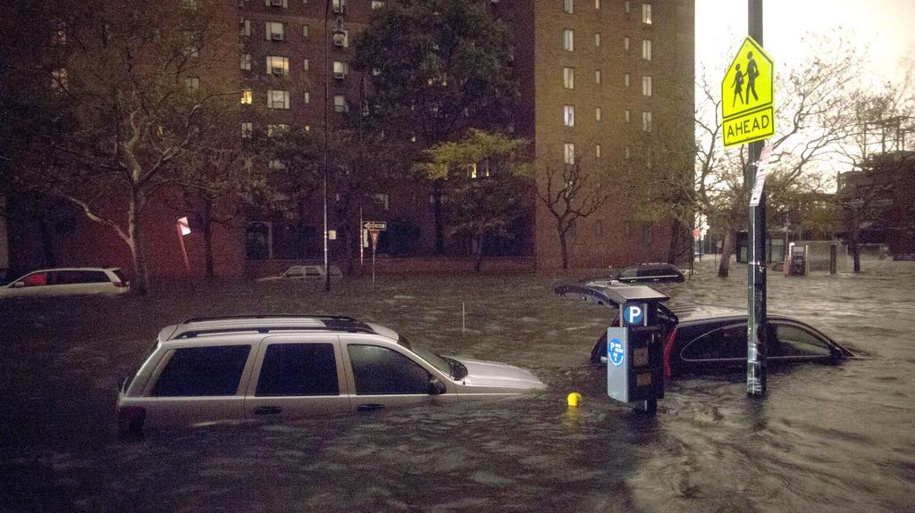 Zatopené ulice v New Yorku
