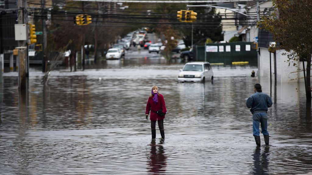 Následky bouře Sandy ve čtvrti Staten Island