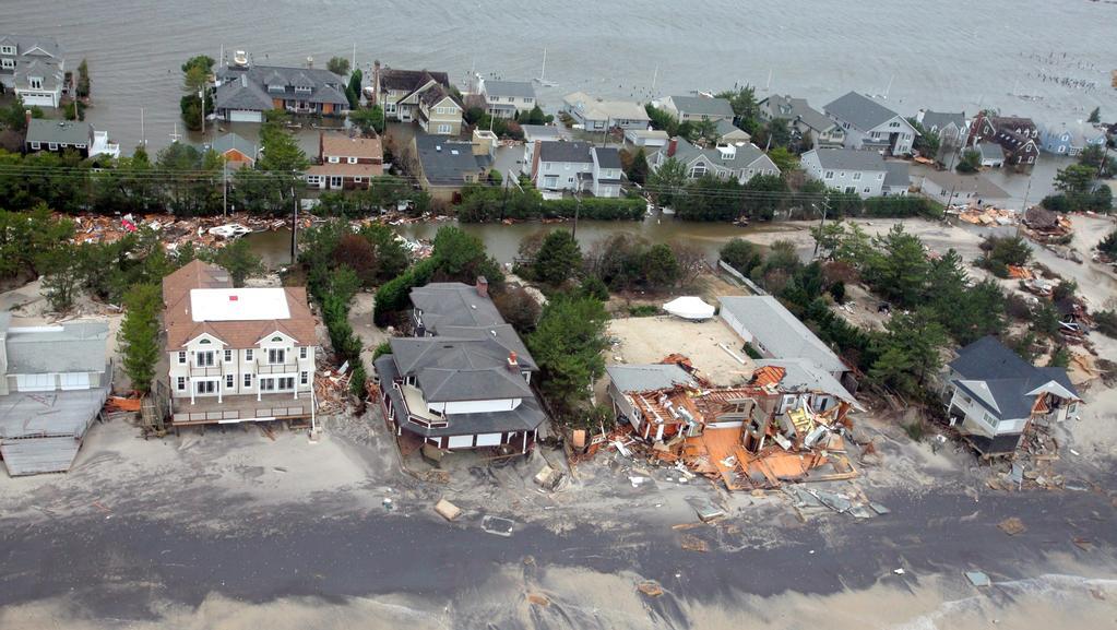 Následky bouře Sandy na východním pobřeží USA