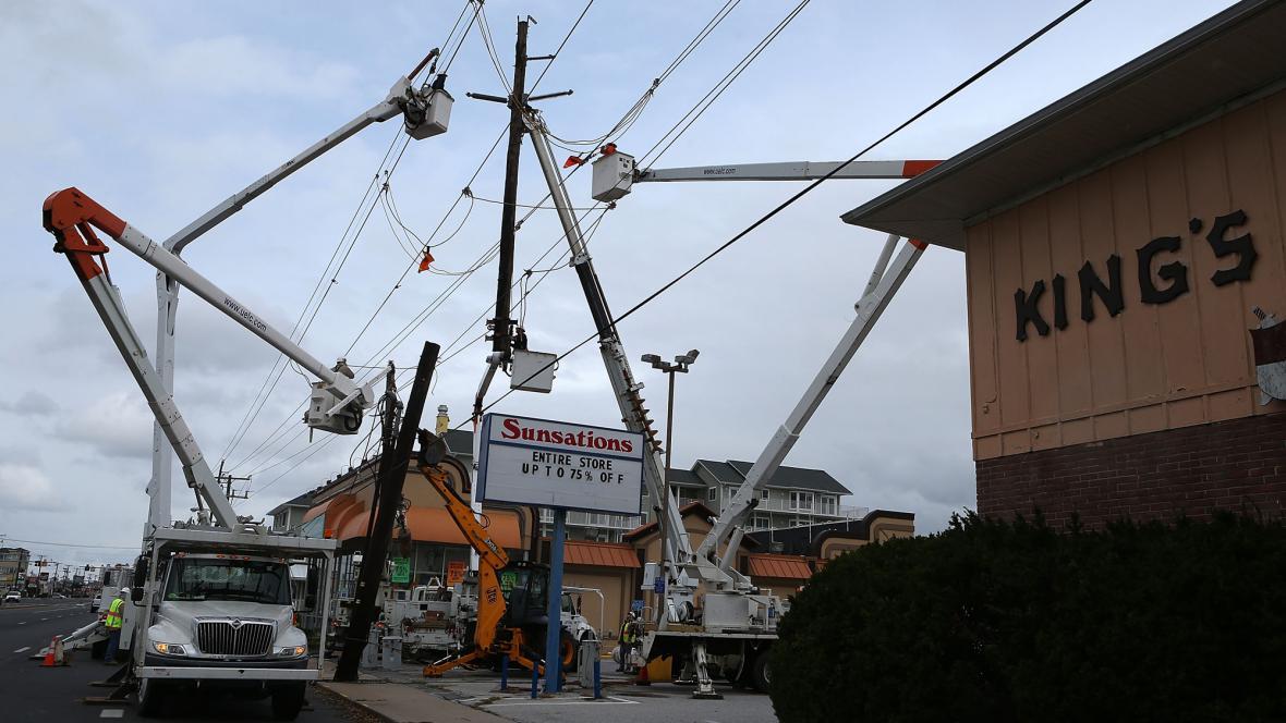 V Marylandu likvidují následky bouře Sandy