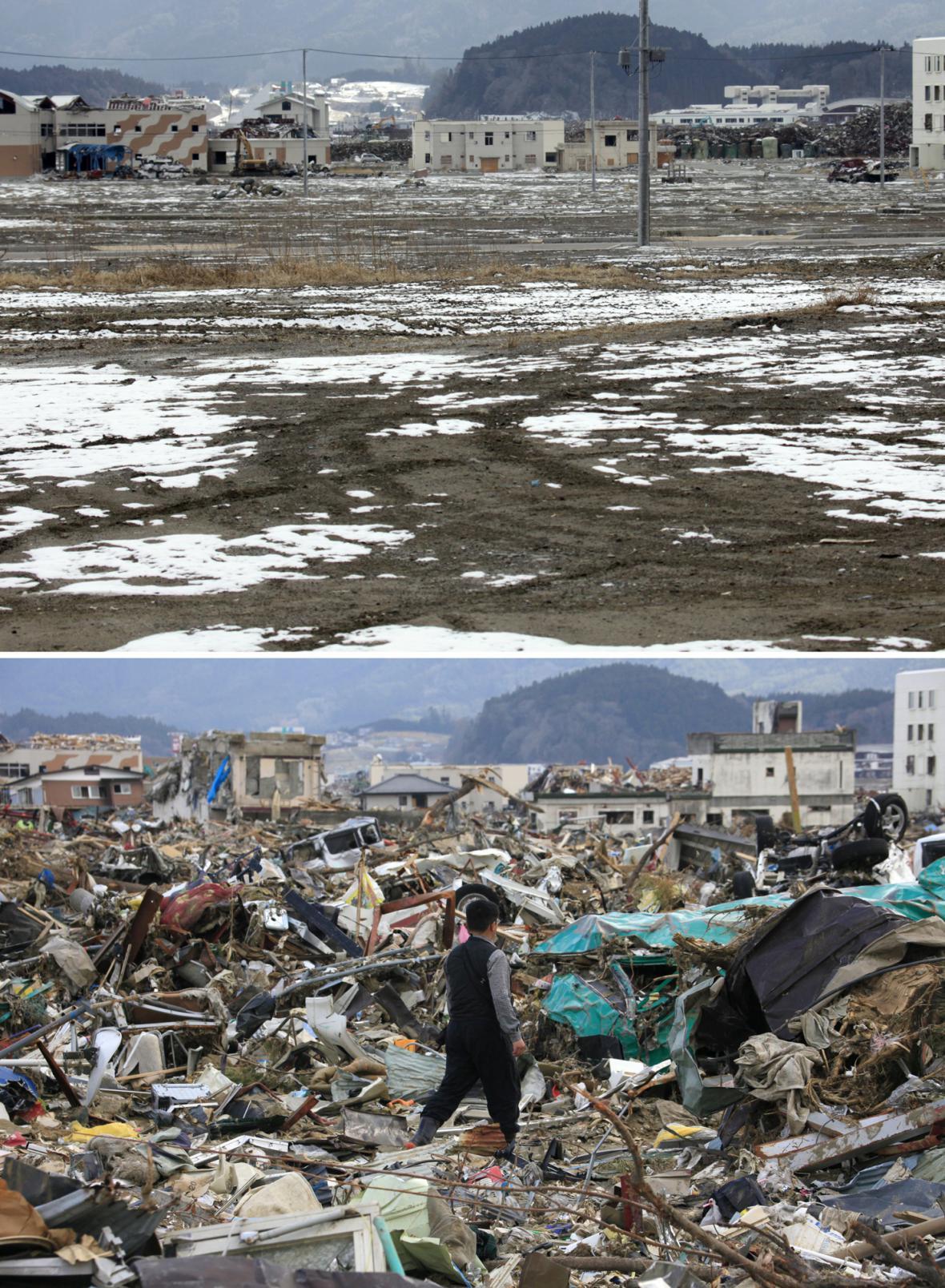 Rikuzentakata - 17. 2. 2012 a 12. 4. 2011