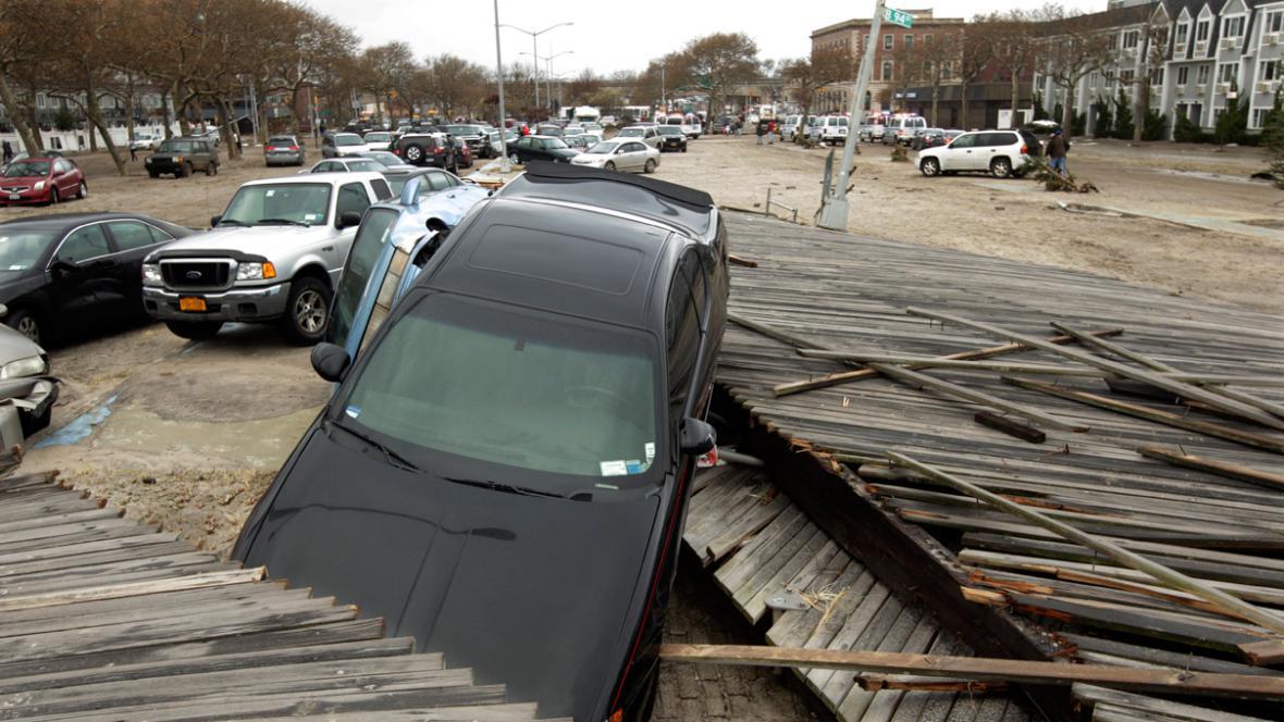 Následky bouře Sandy v New Yorku