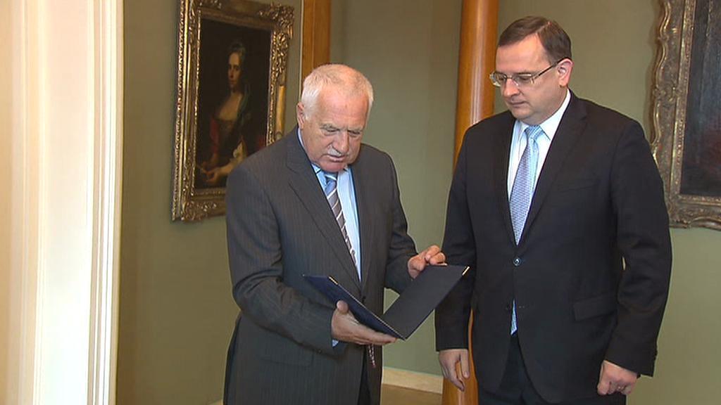 Prezident Václav Klaus dostal Drábkovu demisi