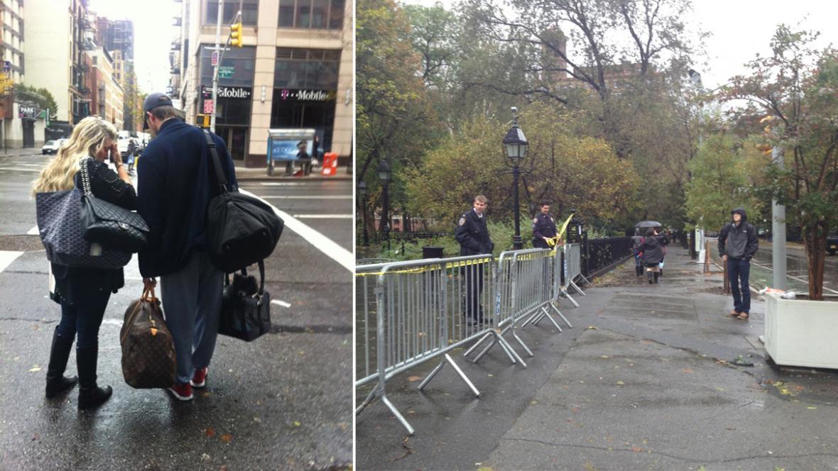 Manhattan ochromila bouře Sandy