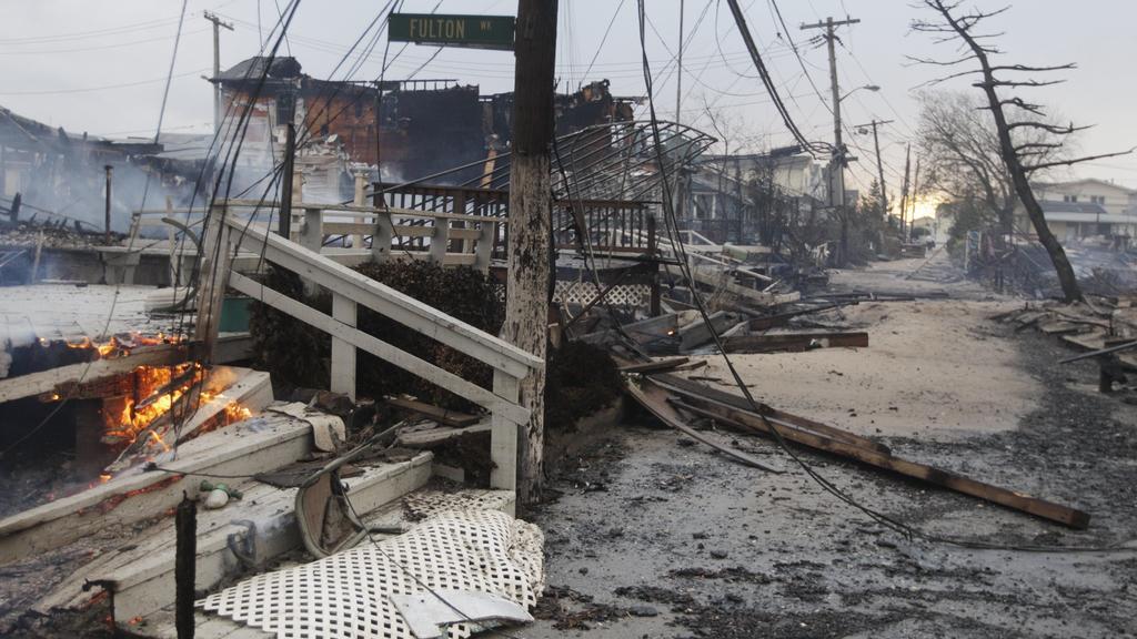 Zkáza po řádění Sandy