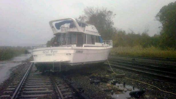 Následky řádění hurikánu Sandy