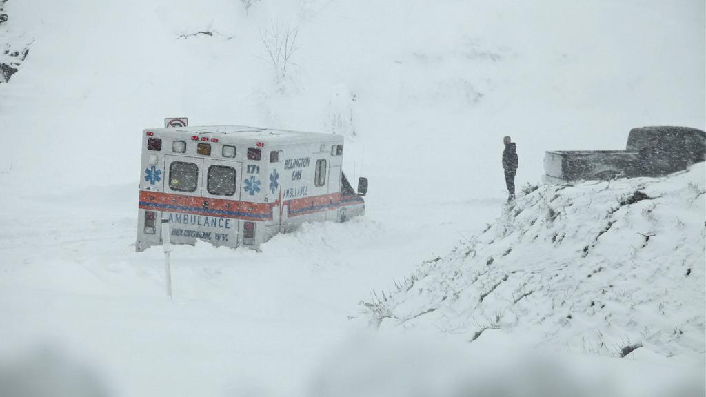 Sandy s sebou přinesla i přívaly sněhu