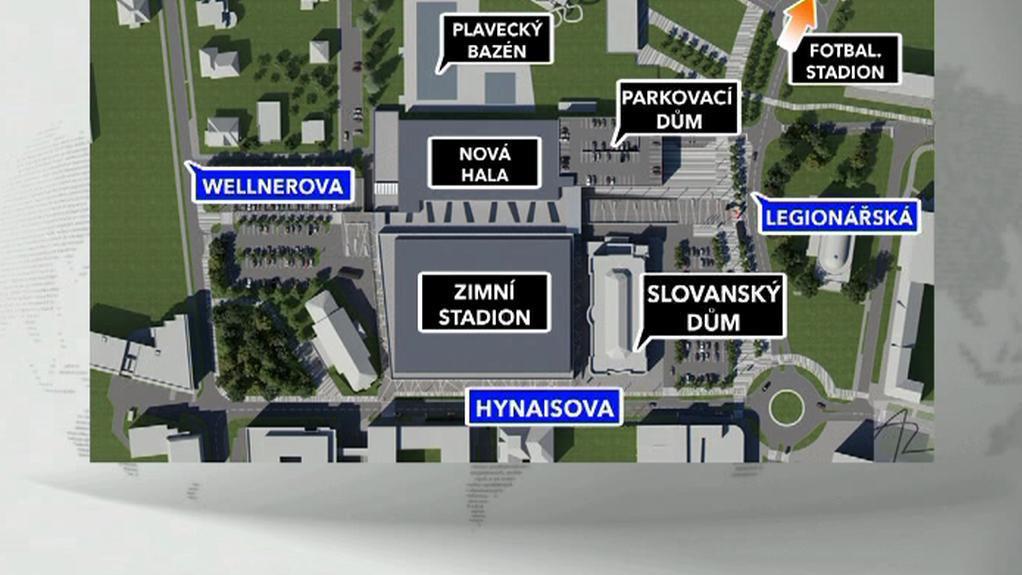Plán výstavby v Olomouci