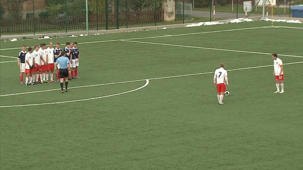 Z přímých kopů vstřelili Češi proti Skotům hned dva góly