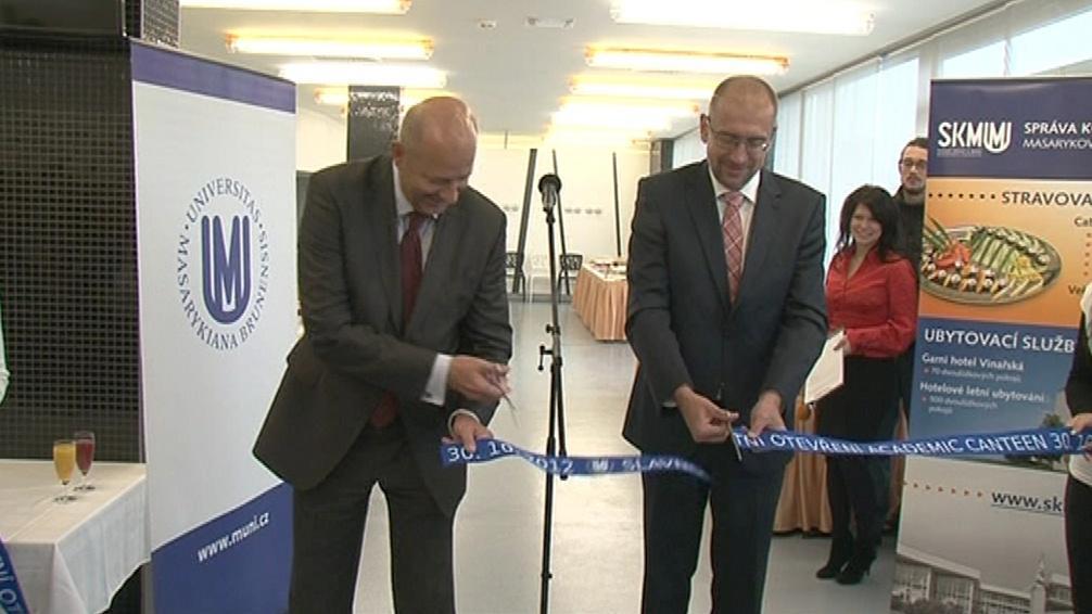 Masarykova univerzita otevřela novou menzu