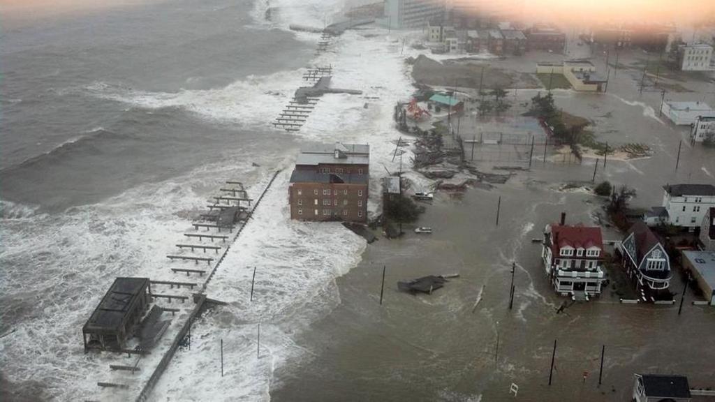 Zaplavené pobřeží Atlantic City