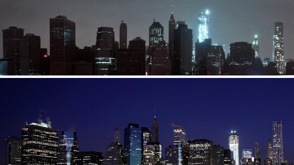 Manhattan po úderu hurikánu Sandy