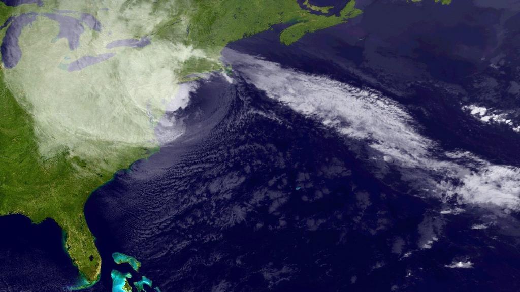 Bouře Sandy nad severovýchodem USA