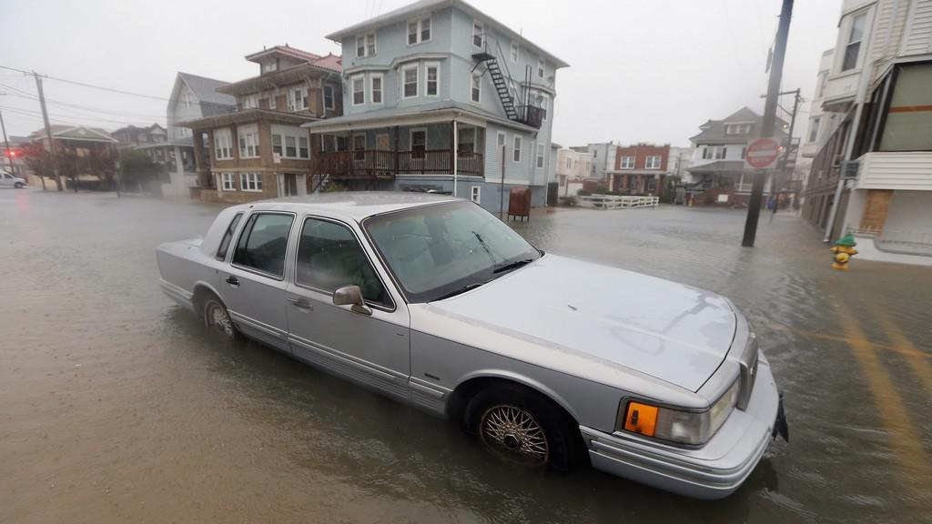 Hurikán Sandy udeřil na Atlantic City