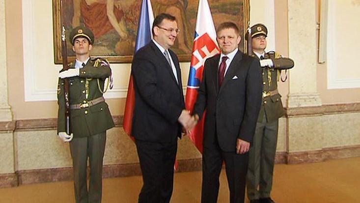 Petr Nečas a Robert Fico
