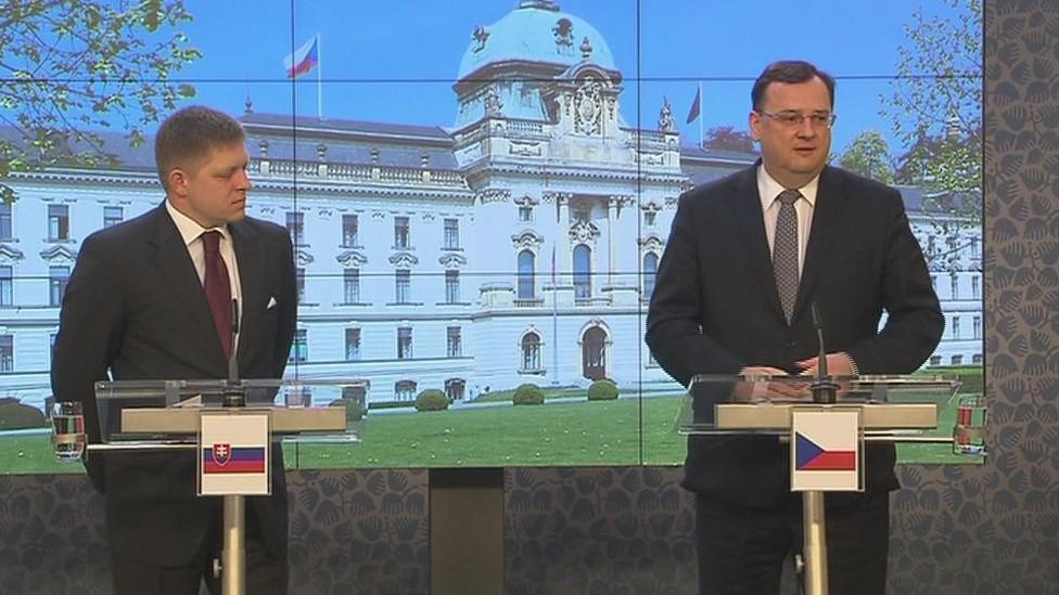 Robert Fico a Petr Nečas