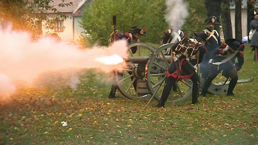Bitevní ukázka napoleonského vojska