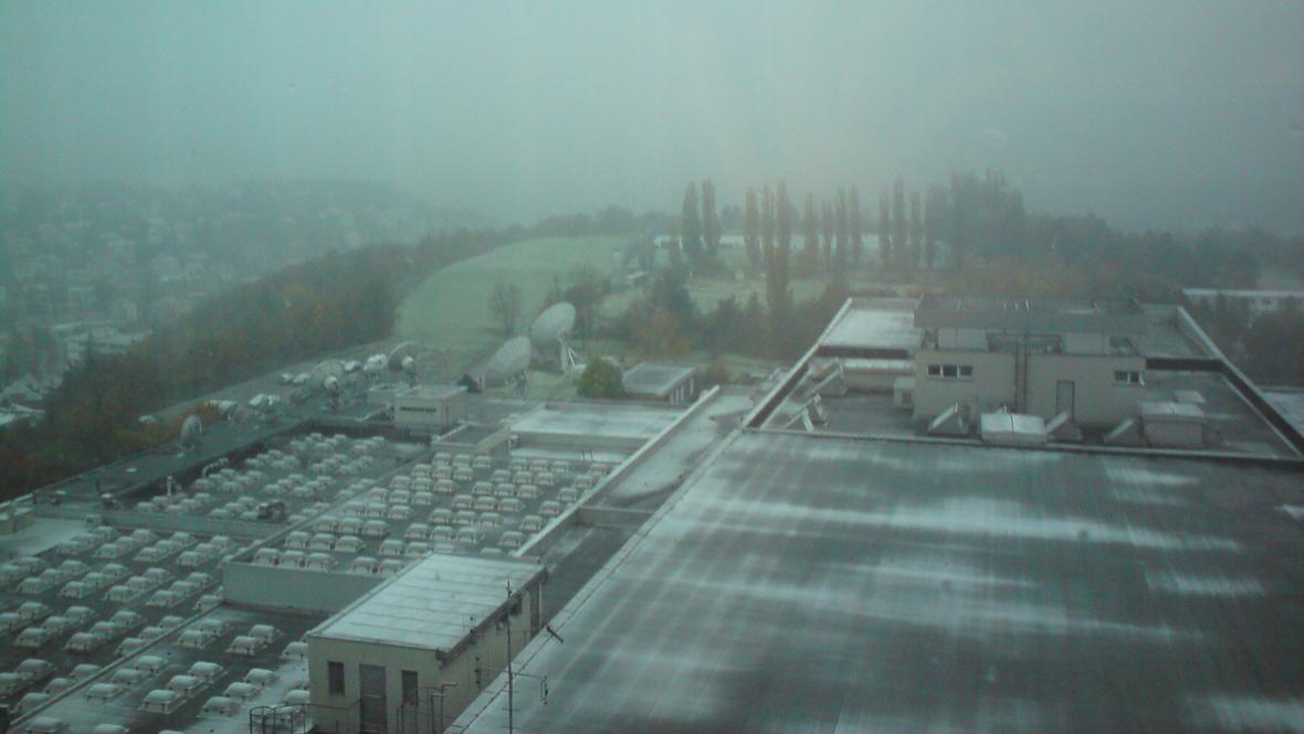 Sněžení dorazilo i na Kavčí hory