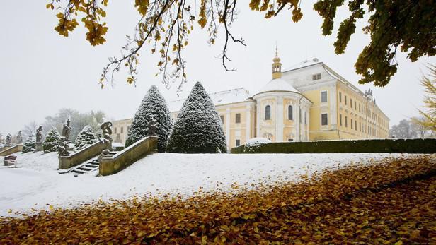 První sníh v Lysé nad Labem