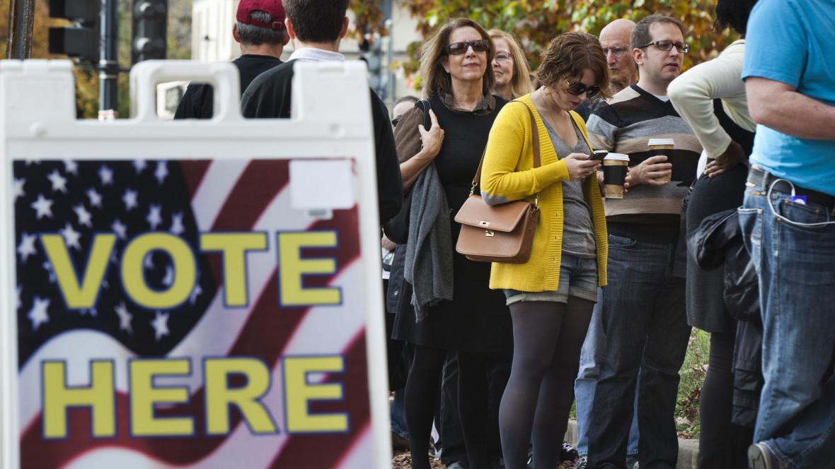 Voliči v amerických prezidentských volbách