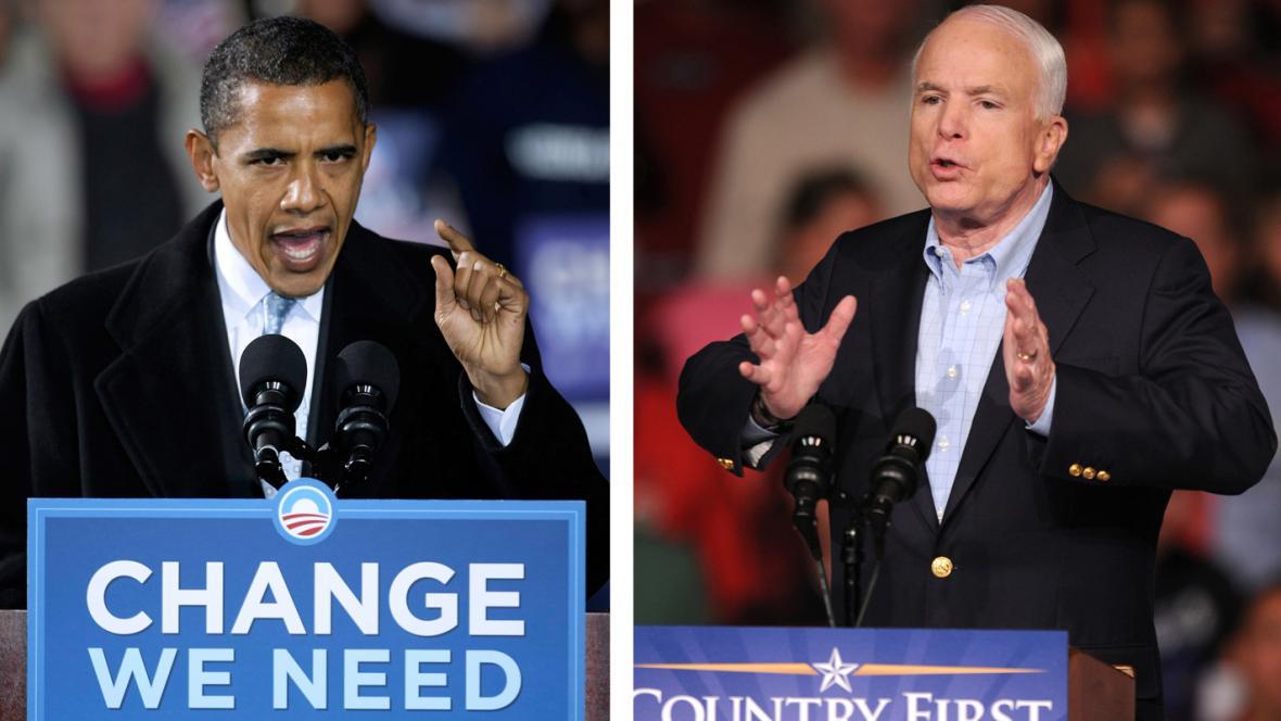 Barack Obama a John McCain