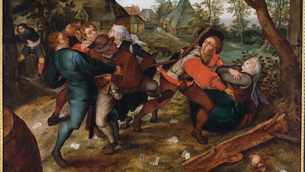 Jan Brueghel st./ Selská rvačka (kolem 1610)