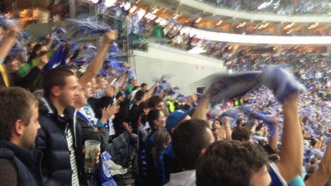Brněnští fanoušci slaví