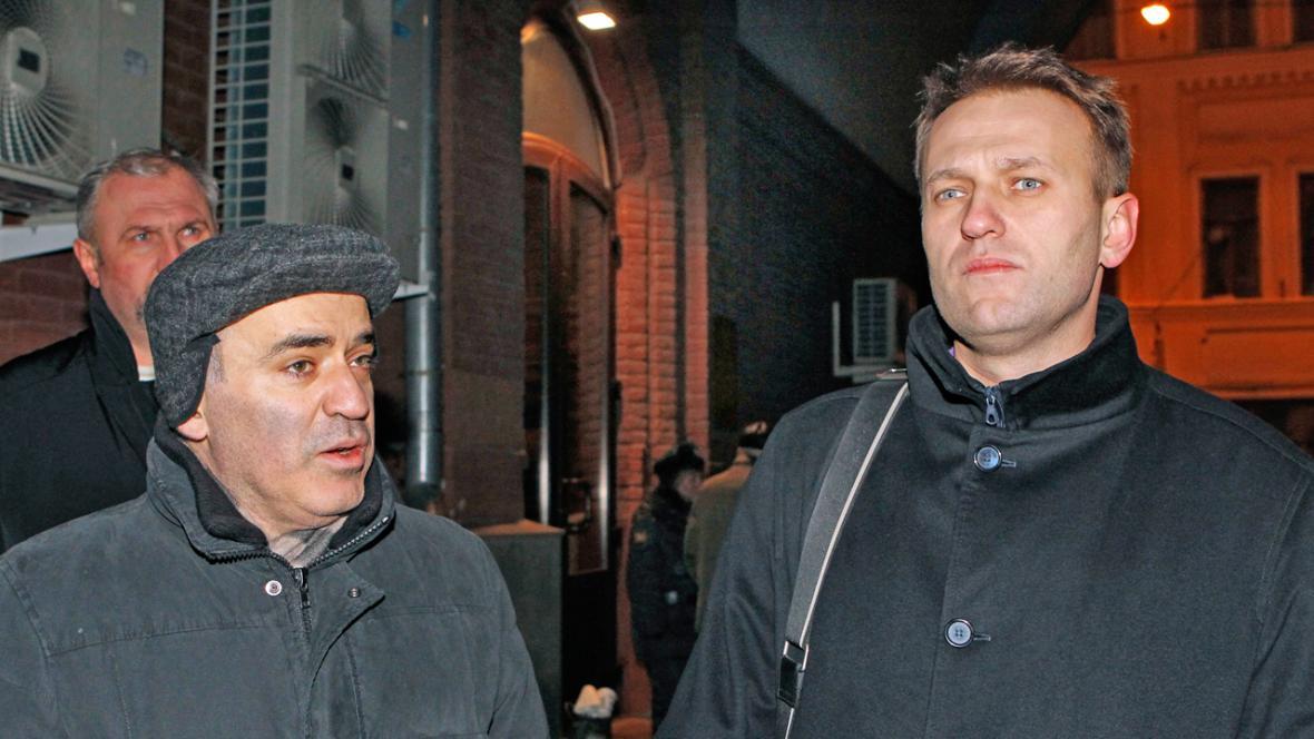 Garri Kasparov a Alexej Navalnyj