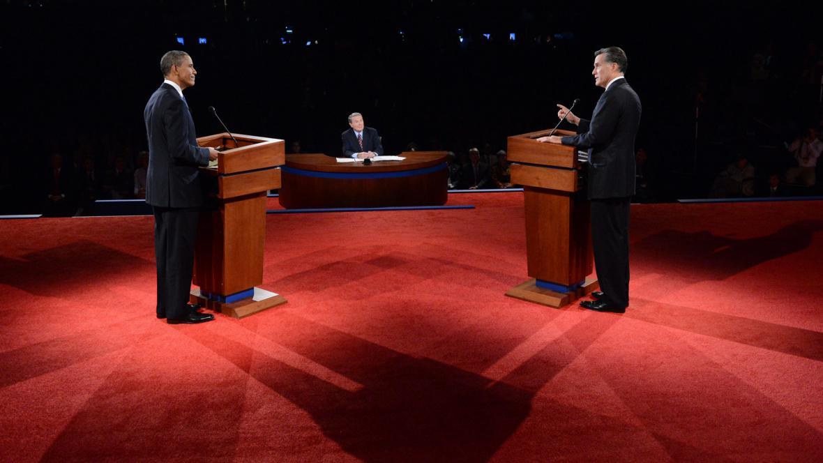 Debata Baracka Obamy a Mitta Romneyho