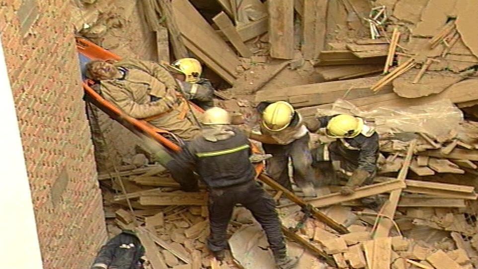Zřícení budovy na náměstí Svobody v roce 1997