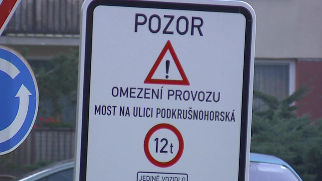 Omezení na litvínovickém mostě