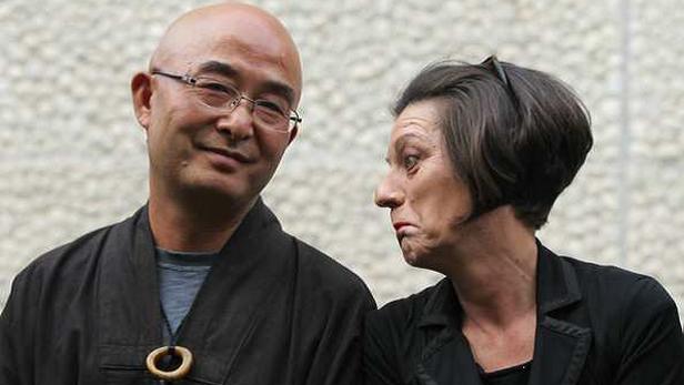 Liao Yiwu (vlevo) s Hertou Müllerovou