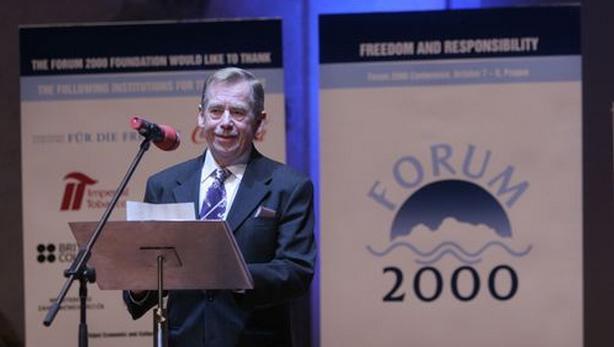 Václav Havel na Foru 2000