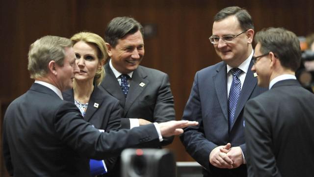 Unijní lídři na summitu EU v Bruselu