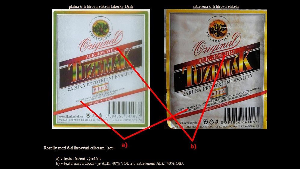 Likérka chce upozornit na padělky svých výrobků